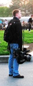 Camera man in Seattle
