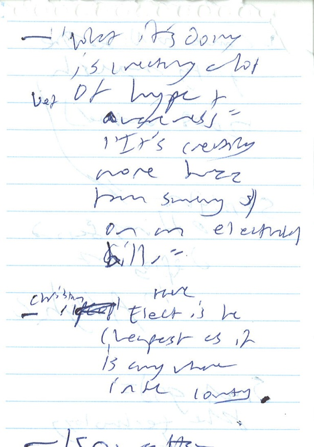 Katherine's Handwriting